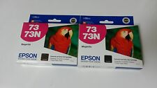 2 Genuine Epson T073320 - 73N  Magenta Ink Cartridges  Exp:2011    Steal!!!!!