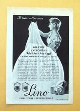 D292 - Advertising Pubblicità - 1959 - LINO , FIBRA FORTE TESSUTO NOBILE