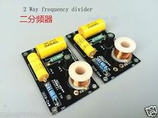 2pcs Audio Frequency Divider Multi Speaker 2 Unit 2 Way Crossover Filters 250W