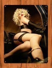 "TIN-UPS TIN SIGN ""Stepping Out"" PIN-UP SEXY Blonde Garage Wall Decor"