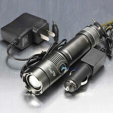 2200LM CREE XM-L T6 LED Rechargeable Flashlight Torch Lamp + AC/Car Charger TL