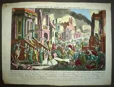 Vue d'optique LA DESTRUCTION DE LA VILLE DE JERUSALEM ET FUITE DES JUIFS XVIIIe