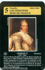 CHARLES X ROI FRANCE PLAYING CARD CARTE A JOUER