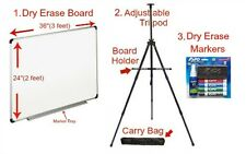 Dan's Universal Dry Erase Board Kit With Portable Tripod Stand And Marker Set