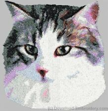 Large Embroidered Zippered Tote - Norwegian Forest Cat Dle2660
