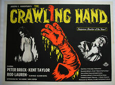 The Crawling Hand - UK Quad poster LINEN BACKED 30 x 40 inches