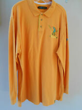 COOGI Mens Long Sleeve Polo Golf Rugby Style Embroidered Shirt Size 4XL
