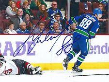 Signed  8x10 NIKITA TRYAMKIN Vancouver Canucks Photo - COA