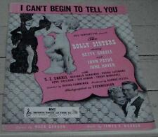 I Can't Begin To Tell You, James V. Monaco, 1945  OLD SHEET MUSIC