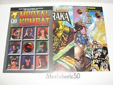 Mortal Kombat 4 Comic Lot Maibu 1995 Baraka #1 Battlewave Blood & Thunder 0 1