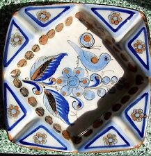 Vintage Ashtray Ken Edwards El Palomar Tonala Mexico Art Pottery Blue Bird 7""