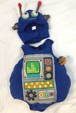 CHILDREN PLACE Baby Robot Halloween Costume 0- 6 month Infant Toddler Onesie Hat