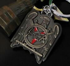 DZ1257 Metal Key Chains Slayer Band Metallic Rock & Roll Collectible Key Ring ♫
