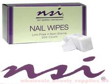 NSI  Nail Wipes  - 200ct  -  All Purpose Wipes Lint Free Remover  uv led gel