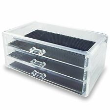 "Ikee Design® Acrylic Jewelry & Cosmetic Storage Display Box 9 3/8"" x 5 3/..."