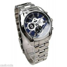 Casio EF548D-2A Edifice Mens Chronograph Stainless Steel Dress Watch 100M Blue