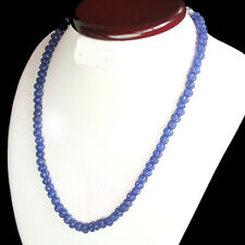 TRUELY MARVELLOUS 207.00 CTS NATURAL CARVED BLUE SAPPHIRE BEADS NECKLACE STRAND