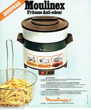 PUBLICITE ADVERTISING 036  1978  Moulinex la friteuse anti-odeur