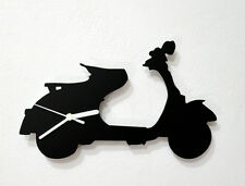 Vespa Scooter Silhouette - Wall Clock