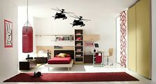 APACHE HELICOPTERS Boys Room Army Words Wall Decal Lettering Sticky Sticker 36""
