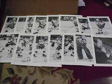 Pgh Penguins, 1976/77, Open Pantry Photo Set of 15, Scarce, 8 x 10, B & W, Clean
