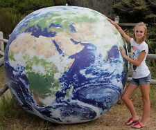 GIANT 6` Inflatable ASTRONAUTS VIEW Earth Globe Beach Ball - NASA Photos - HUGE!