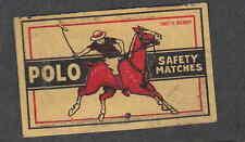 Ancienne étiquette allumettes  Belgique  V177 Cheval Polo