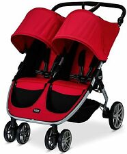 Britax B-AGILE Twin Baby Lightweight Double Stroller Red NEW 2017 AUTH DEALER