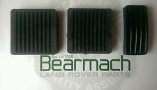 Land Rover Defender 90, 110, Pedal Cover SET, Brake Accelerator Clutch, Bearmach