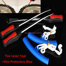 Motorcycle Tire Tyre Iron Changing 3 Spoon & 2 Rim Protector Anti Scratches Tool