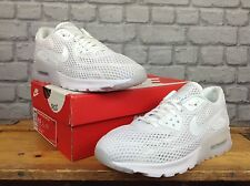 NIKE LADIES UK 5.5 EU 39 WHITE PLATINUM AIR MAX 90 ULTRA BREATHE TRAINERS