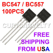 100pcs 50 Pair BC547/BC557 TO-92 45V 0.1A Transistors US Seller & BONUS