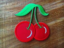 Cute Cherry Sew/Iron-On Patch Embroidered Red Applique Decorate Fruit