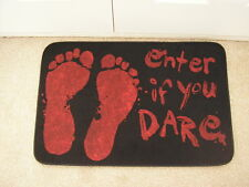 halloween blood splattered door mat enter if you dare 60 cms x 40 cms