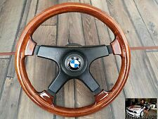 BMW NARDI FITIPALDI 1979 Wood Steering Wheel Vintage 350MM  E28 E30 E32 E34 OEM