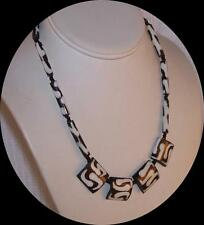 Vintage Australian Petrified Peanut Wood Bead Necklace.