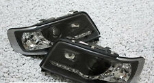 Black finish front lights headlights with LED DRL for AUDI 100 C4 90-94