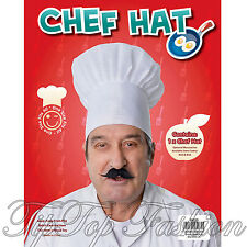 Adulte coiffure cuisine catering cook motard parti blanc chef hat fancy dress
