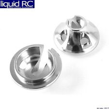 Hot Racing RVO156C08 Aluminum 1/10 GTR Shock Spring Retainers (Silver)(2) - Trax