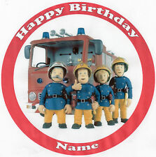 Fireman Sam Edible Photo Rice Paper cake Topper