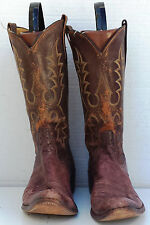 Lot-06 Mens' Size 9 B Rios of Mercedes Brown Western Cowboy Boots