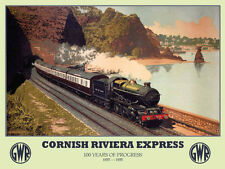 Cornish Riviera Express, GWR Railway Steam Train, Large Metal/Tin Sign, Picture