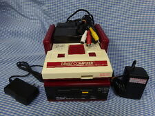 NINTENDO AV output FAMICOM+Disk System over hauled J-NES AC Adapter x2 FromJapan