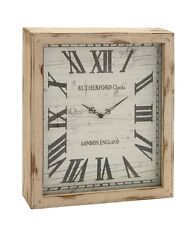 Benzara Timelessly Rustic Wood Wall Clock- 48536 Clocks NEW