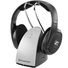 Sennheiser RS120 On-Ear Wireless RF TV Headphones Charging Dock Complete Set
