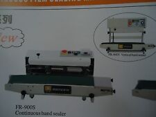 STAINLESS STEEL FR-900HS HORIZONTAL CONTINUOUS BAND SEALER  MACHINE& EMBOSSER