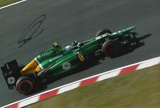 Giedo van der Garde Hand Signed 12x8 Photo Caterham F1 6.