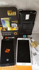 Fair Samsung Galaxy Note 4 SM-N910P Boost Mobile 32GB White/Bl Smartphone+EXTRA