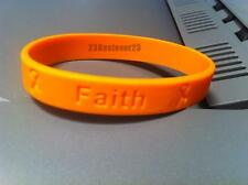100 Orange MS Multiple Sclerosis Awareness Silicone Bracelets ADULT Wristband
