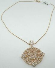 DESIGNS BY YAGI STERLING SILVER ROSE GOLD CUBIC ZIRCONIA NECKLACE